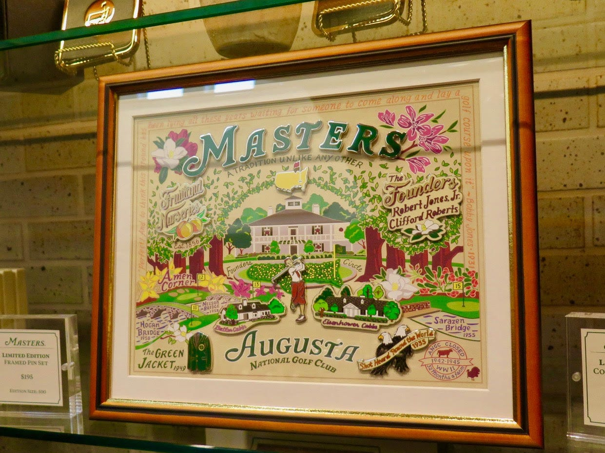 Masters wall graphic: $195 – Only available two years ago to members, this stunning framed image of the Cat Studio graphic using stainless steel and other artistic touches is $195 and limited to 500.