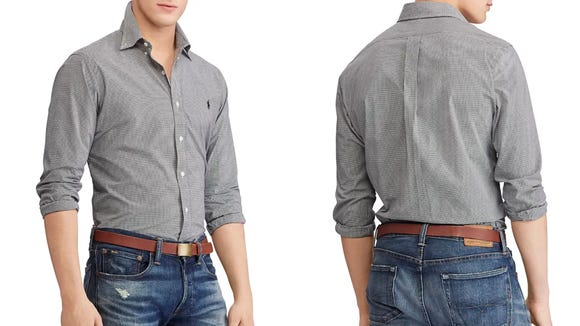 This classic button down is perfect for day to night.
