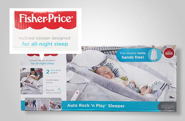 Fisher-Price Rock n' Plays were recalled after being linked to infant deaths. They were advertised for sleeping, which is unsafe.