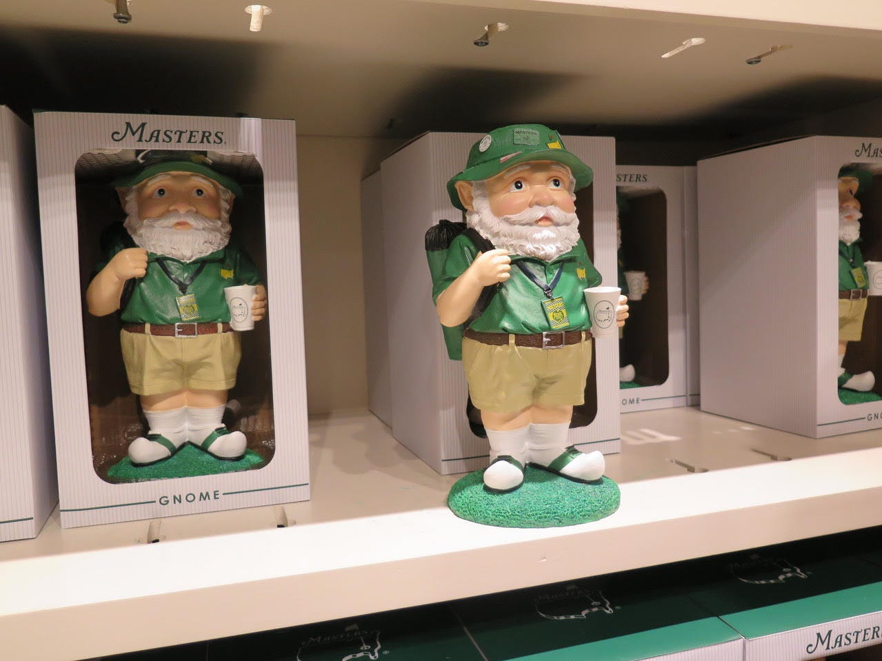 Garden Gnome: $38 – Last year's uber-popular garden gnome is back with more pins, buttons and a Masters folding chair over his shoulder.