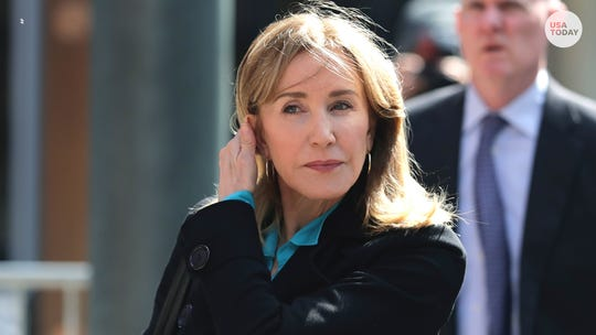 Tearful Felicity Huffman pleads guilty in college scam; prosecutors recommend four months in prison