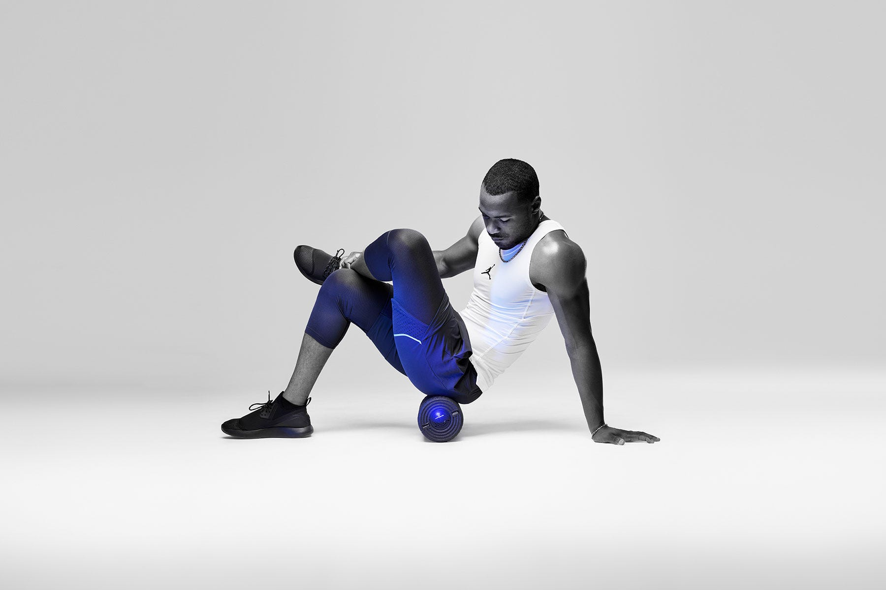This vibrating foam roller increases range of motion by up to 40 percent according to fitness professionals.