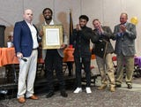 Former BHP football Kendall Joseph honored by Anderson County Council at touchdown club banquet