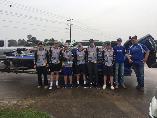 The LaSalle Gold fishing team won the Association of Louisiana Bass Clubs (ALBC) District 3 regional high school tournament Saturday