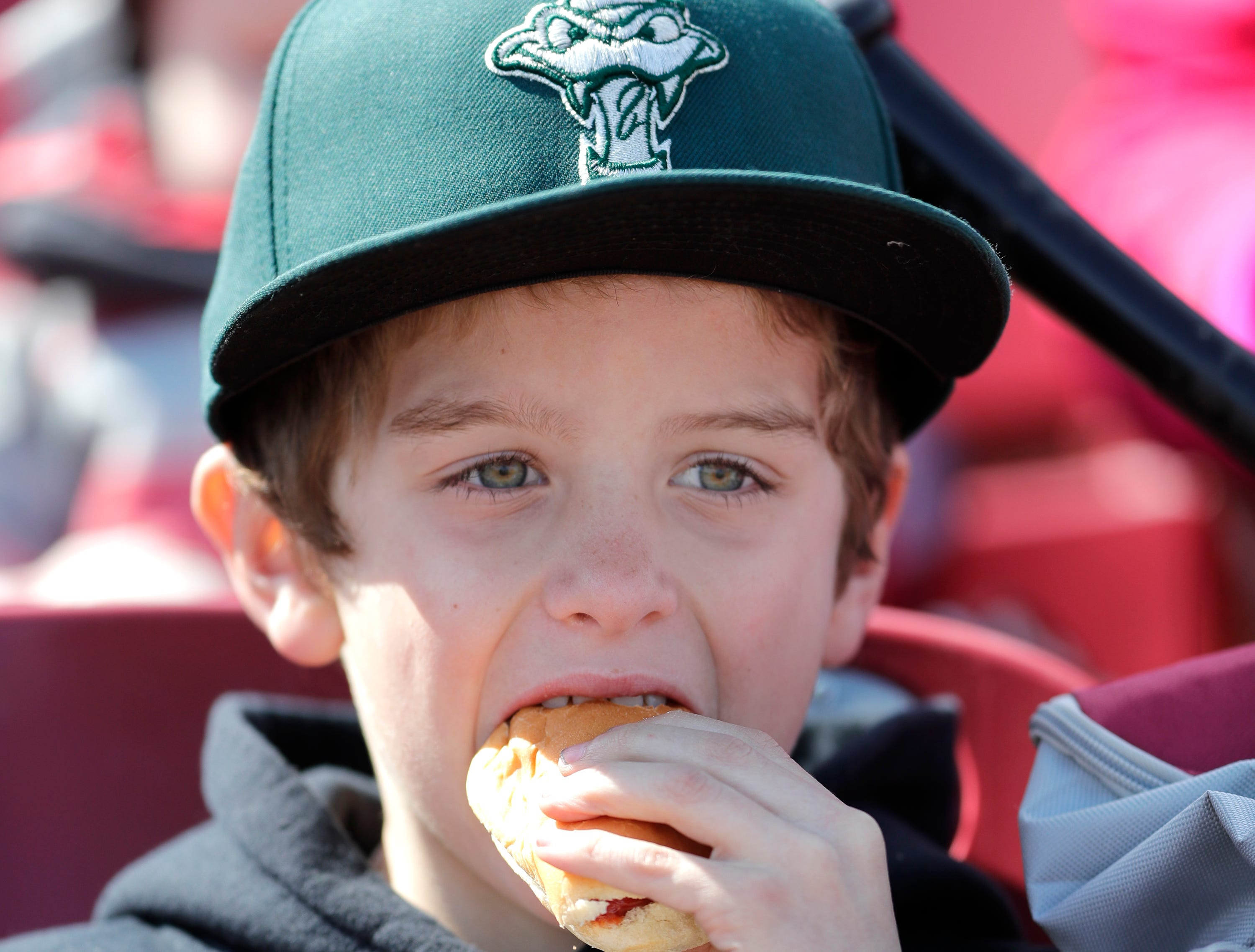 Dylan Bongiovanni during the Wisconsin Timber Rattlers' Fan Fest at Neuroscience Group Field at Fox Cities Stadium on Tuesday, April 2, 2019, in Grand Chute, Wis.Wm. Glasheen/USA TODAY NETWORK-Wisconsin.