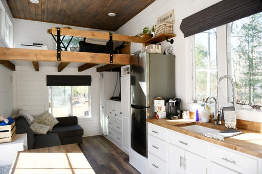 Andrew and Amanda Riddles' tiny-home pictured here at Egg Harbor River Resort in Atlantic County.