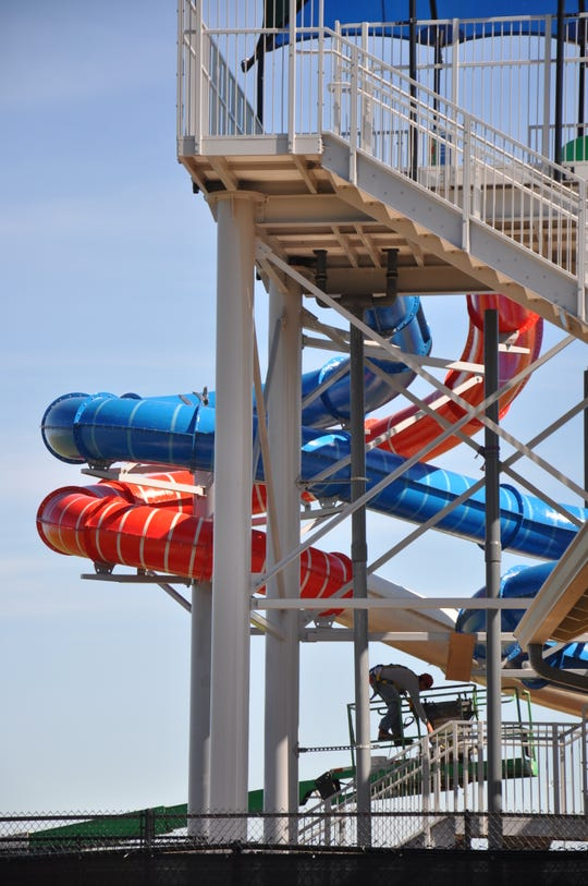 The city of Abilene is adding a red slide and two shade structures to Adventure Cove at Rose Park.