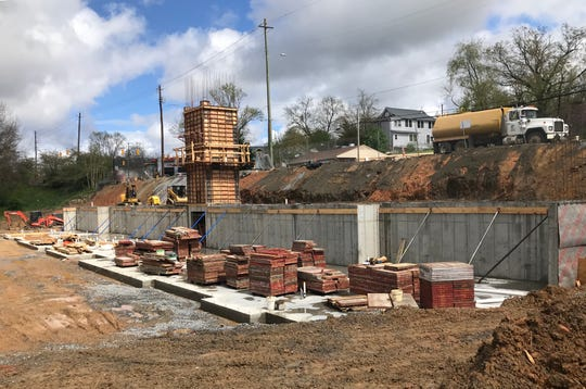 A 36-unit apartment complex and retail development is under construction on Broadway Street in Asheville at the site of the former Bob Lawrence Power Equipment. The retail will front Broadway.
