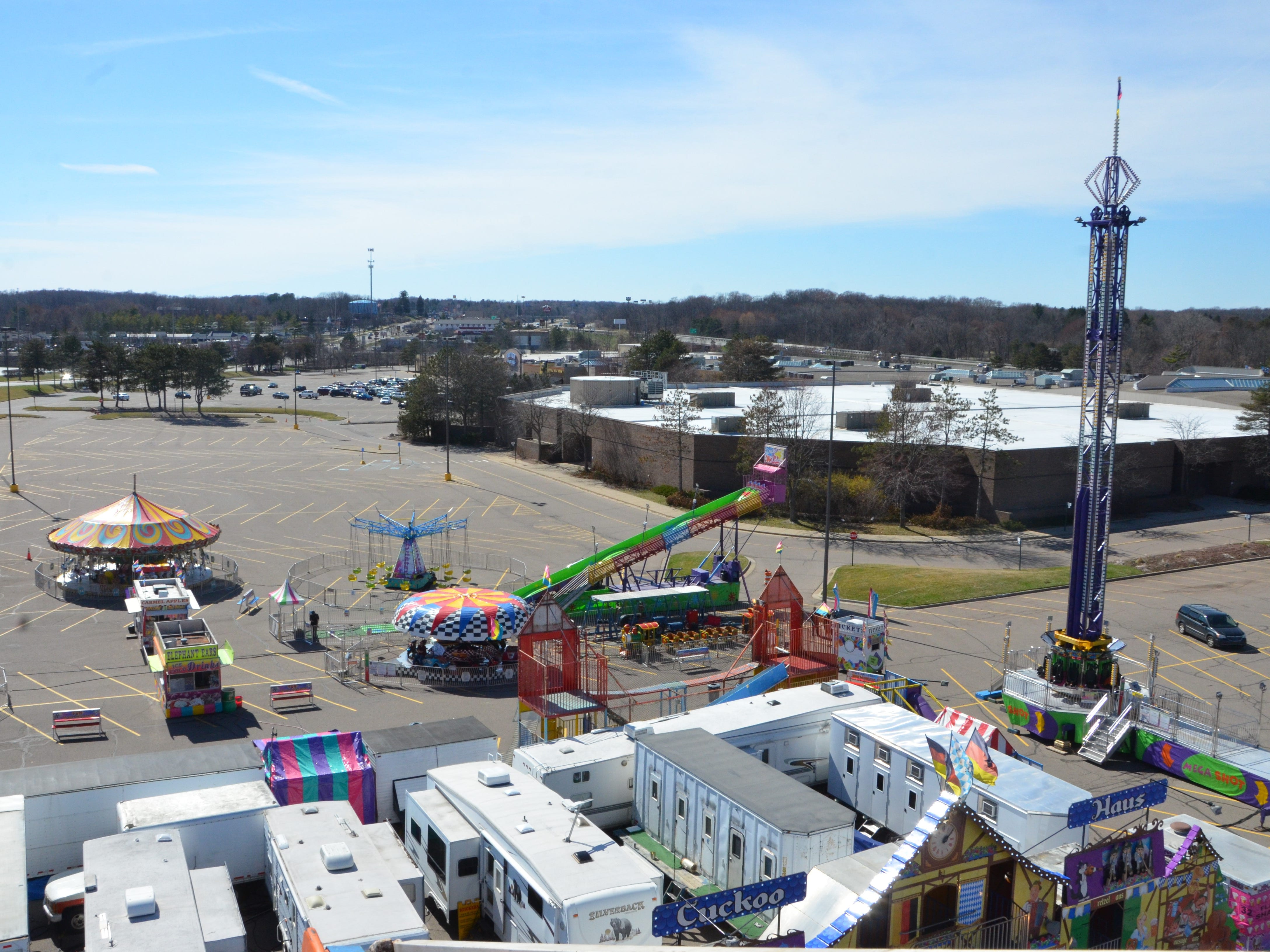 The Lakeview Square Mall parking lot will feature Family Fun Tyme Ammusements until April 20.
