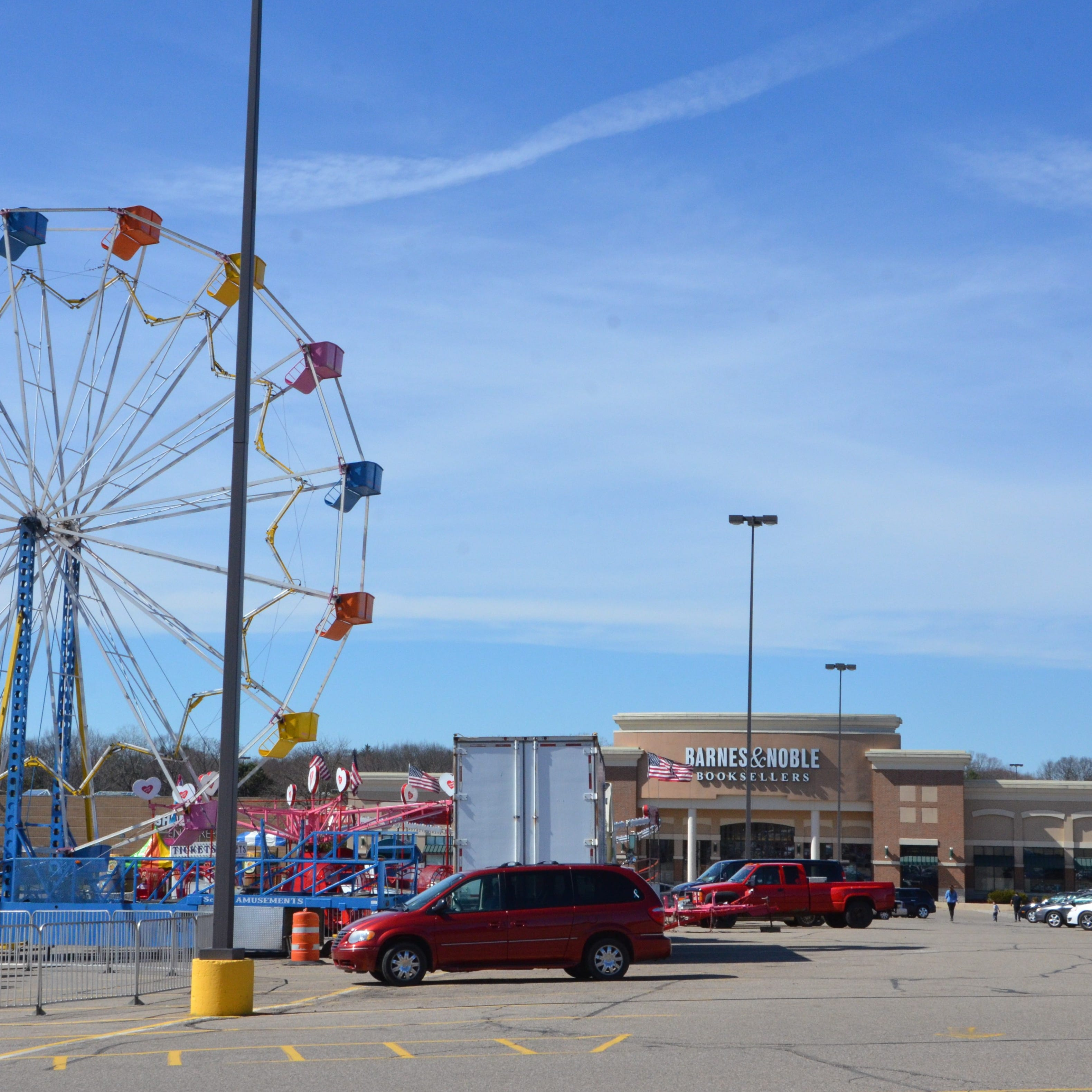 That carnival in the parking lot of Lakeview Square Mall? It's a way to woo shoppers.