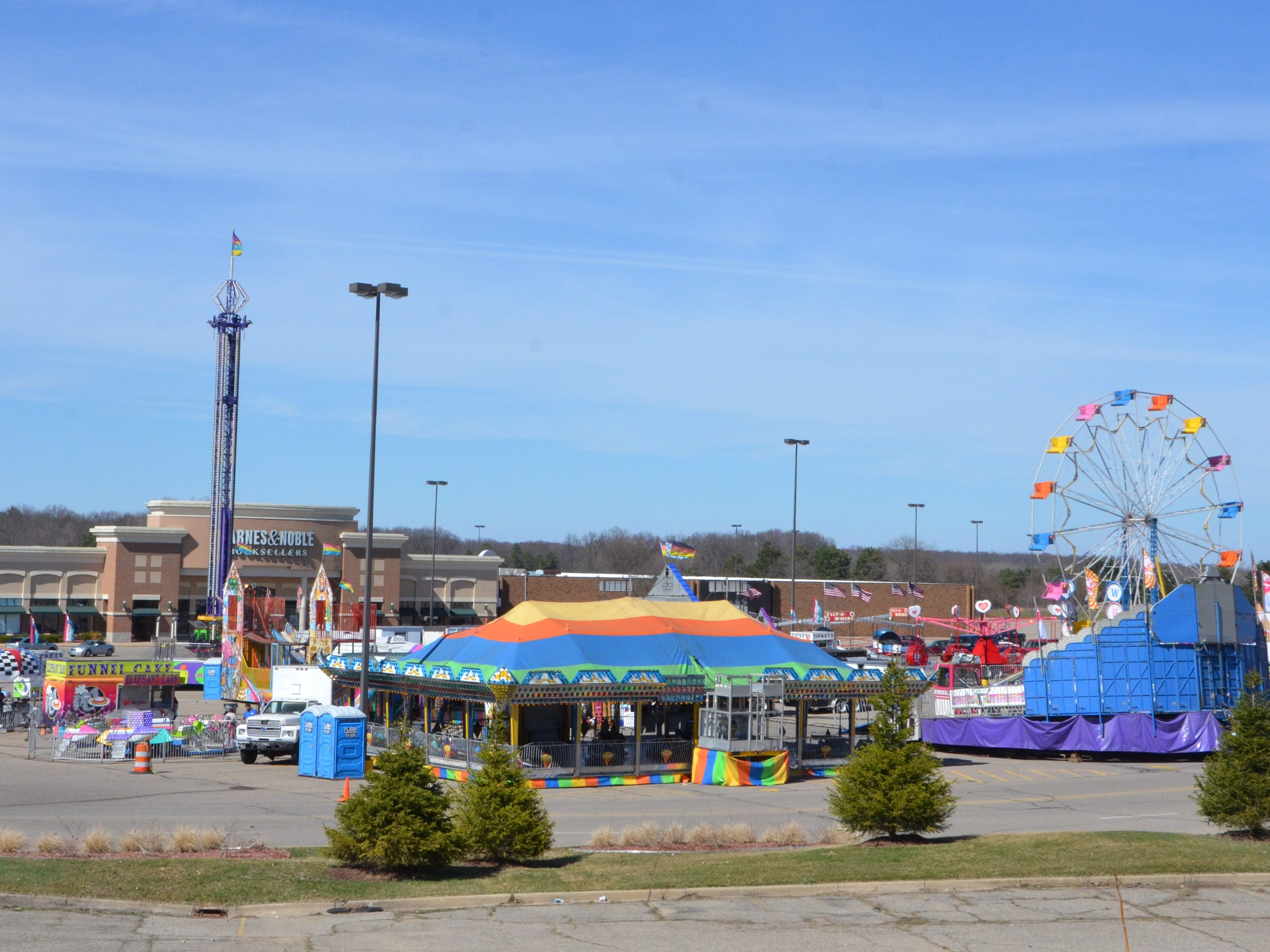 The Family Fun Tyme Amusements will be in the parking lot of Lakeview Square Mall until April 20.