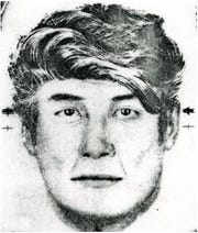 A sketch of the unnamed suspect in Johnson City resident Bessie Williams' November 1983 murder. The homicide has been declared a cold case.