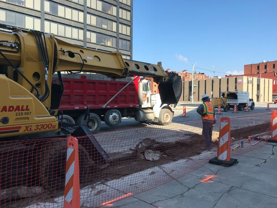 Construction begins on the State Street Gateway project.
