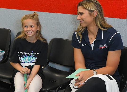 It was a day she'll never forget as Brookelynn Dolin, 10, got to spend an afternoon talking softball with pro star Alex Powers.