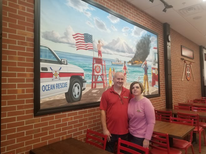 Jeff and Britt Diaz opened a Firehouse Subs restaurant in Indian Harbour Beach on Feb. 4.