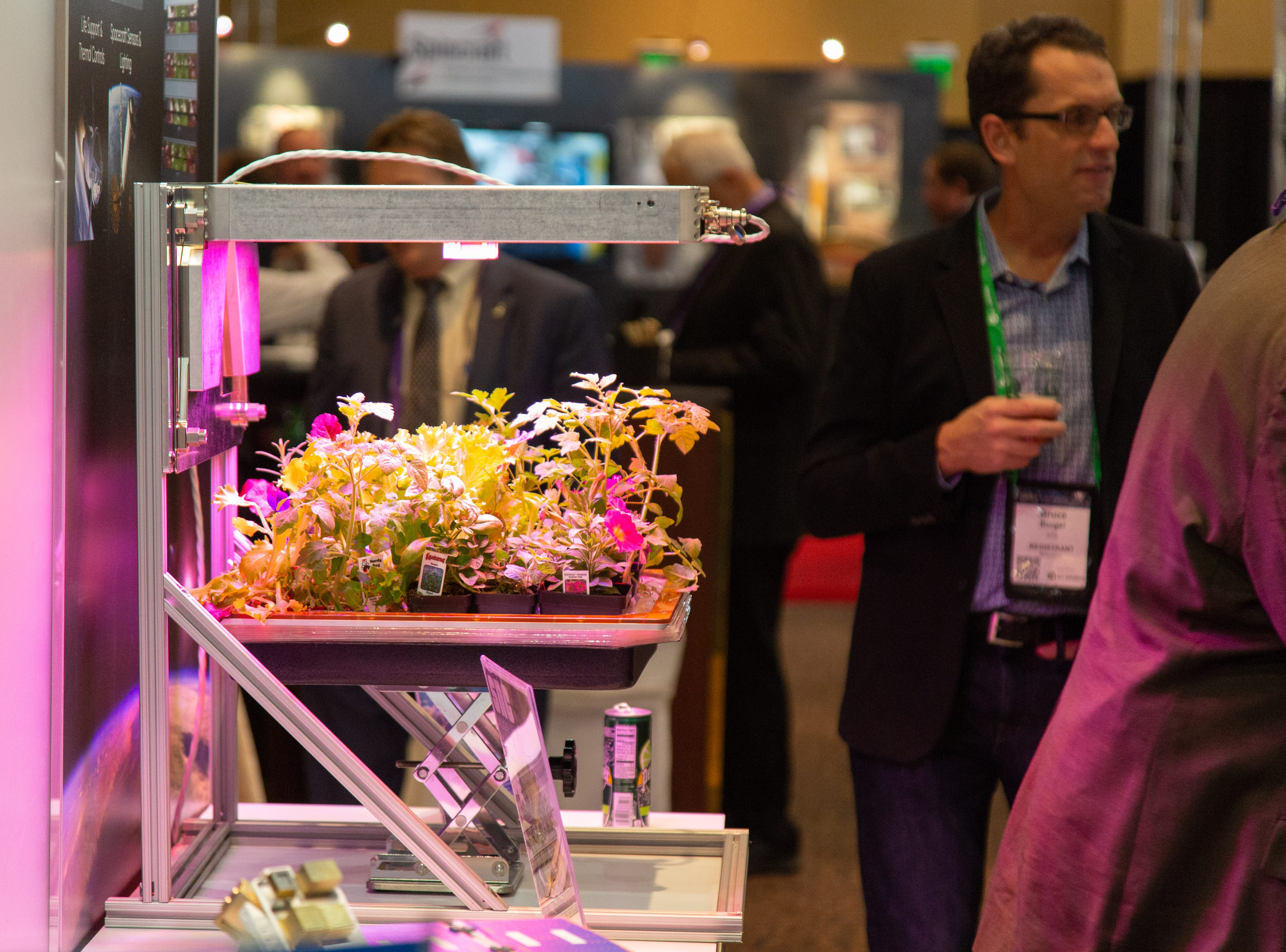 A vegetable-growing tool for space travel at the 35th Space Symposium.