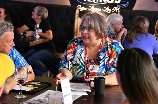 """FLORIDA TODAY hosted Civility Brevard's first event in 2019, a """"Red and Blue Mixer"""" with Space Coast conservatives and liberals meeting to discuss their political views. The event was held at Open MIke's in Melbourne."""