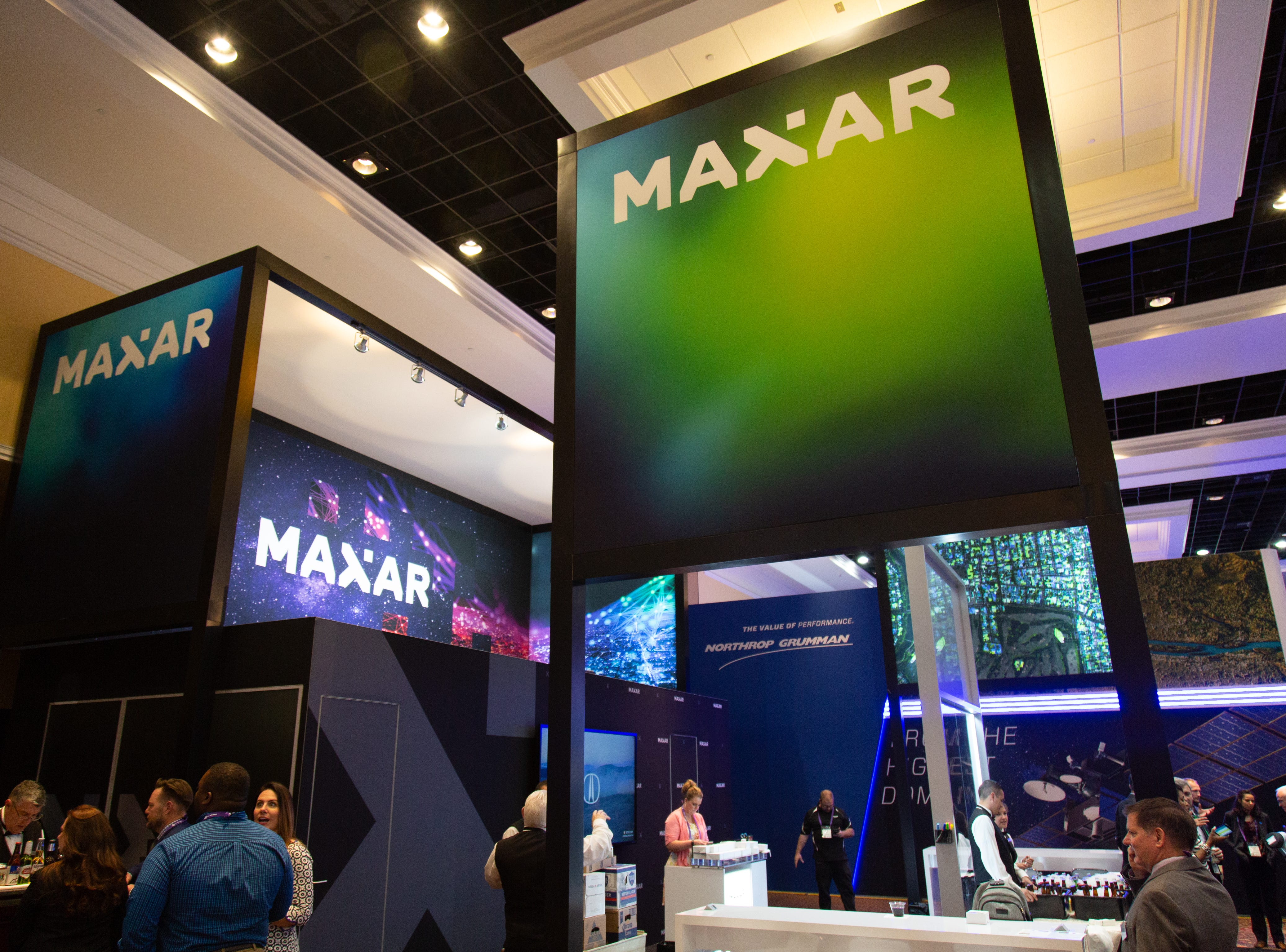 Maxar's booth at the 35th Space Symposium.