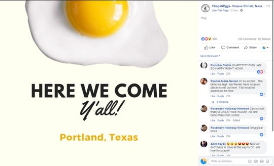 Chops & Eggs Hash House announced on Facebook it would open a Portland location.