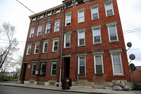 A property located at 421 Wade St. in the West End, near the site of the new FC Cincinnati soccer stadium is pictured, Monday, April 8, 2019, in Cincinnati.