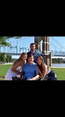 Ryan Custer with friends during a recent trip to Nashville.