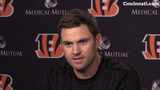 Cincinnati Bengals head coach Zac Taylor on his first day with players,  and released running back Mark Walton.