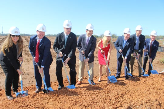 Officials break ground on the Oak Grove Racing & Gaming venue off Fort Campbell Boulevard in Oak Grove on April 9, 2019.