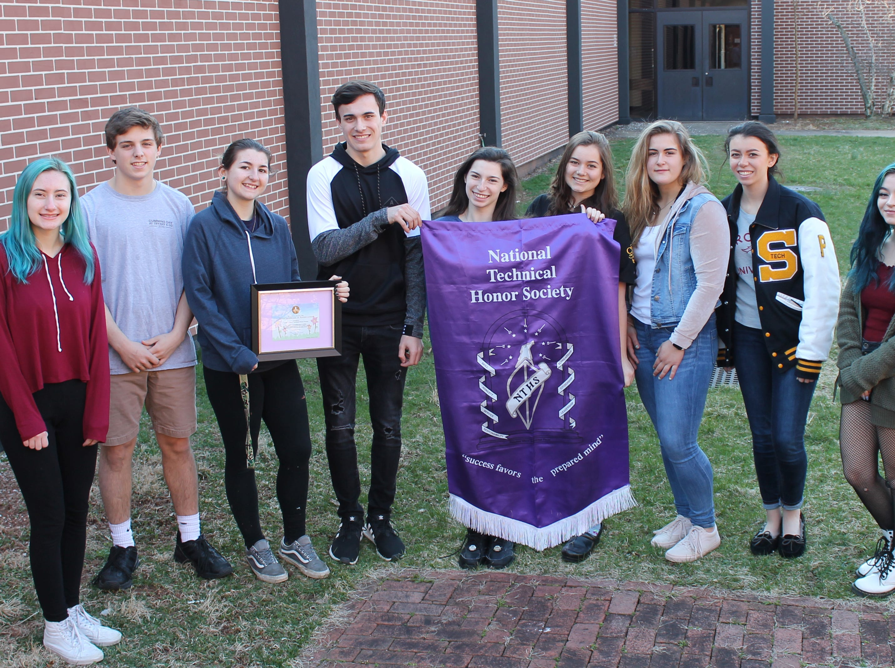 National Technical Honor Society at SCVTHS receives a Certificate of Appreciation