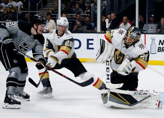 Goalie Marc-Andre Fleury hopes he can lead Vegas on a similar run like last season when they got to the Stanley Cup Finals.