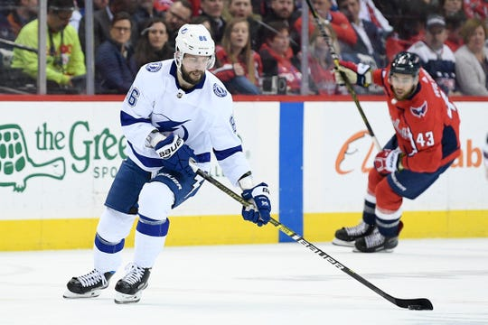 Right wing Nikita Kucherov, who could win the league's MVP award, leads a powerful offense for the Lightning.