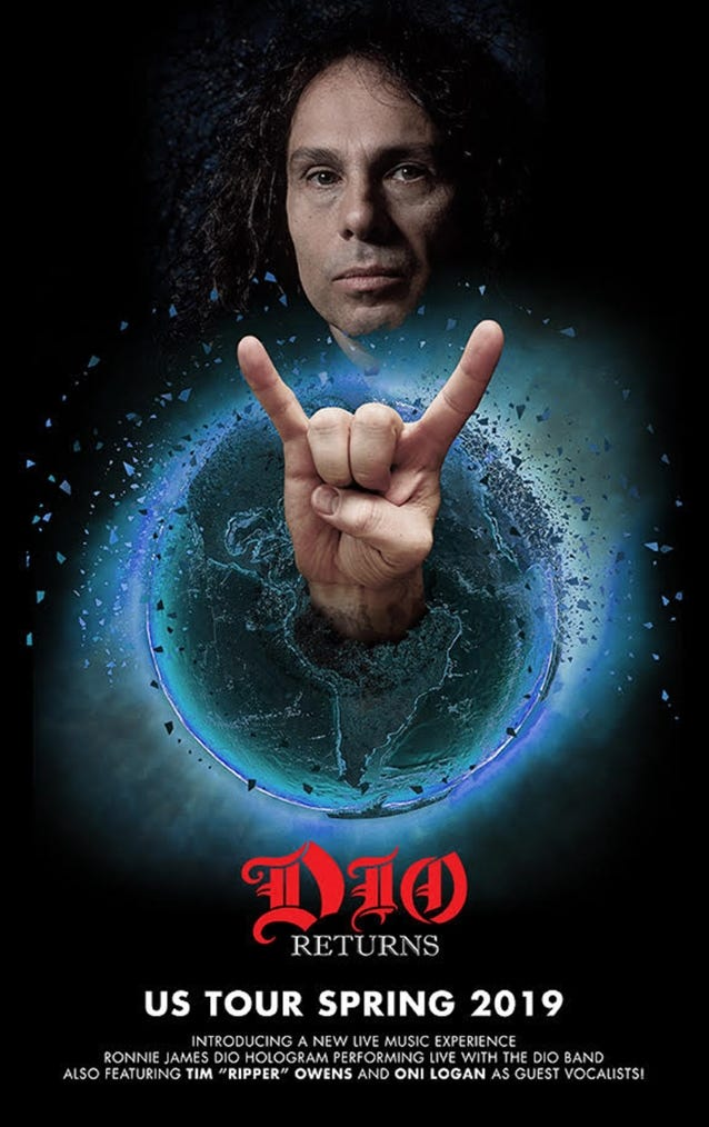 Ronnie James Dio hologram headed to Fillmore Detroit