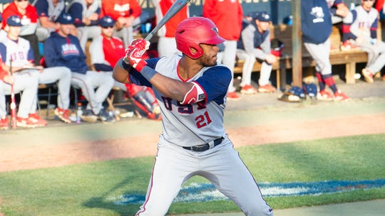 USI's 6-foot-5 junior outfielder Manny Lopez is a native of the Dominican Republic.