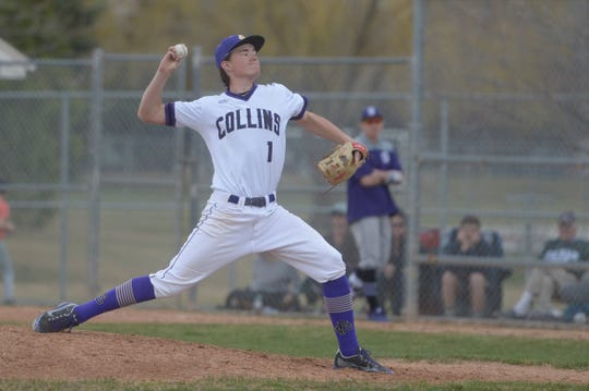 Pitcher Jonah Meadows, shown during an April 8, 2019, game against Denver South, and his teammates on the Fort Collins High School baseball team will face Rocky Mountain in their annual cross-town rivalry game at City Park at 6:30 p.m. Tuesday.