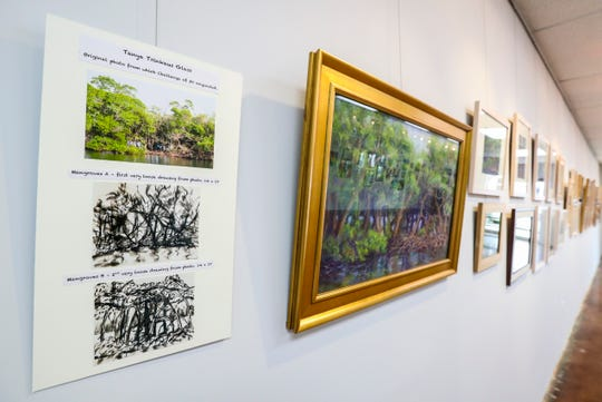 Two different Naples art galleries are exemplifying a sort of everything old is new vibe: At the United Arts Council, three artists took a challenge to do 30 pieces of the same subject, and it was surprising how far afield they went from the original drawing -- but then came back to close to the original piece.