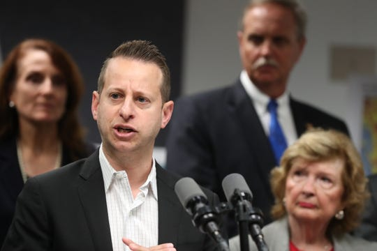 Florida Division of Emergency Management Director Jared Moskowitz speaks during an April press conference.