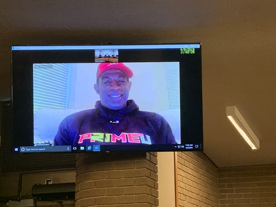 North Fort Myers alum and NFL Hall of Famer Deion Sanders met with Fort Myers Randy Henderson and city councilwoman Terolyn Watson via video conference to discuss Sanders' return to Fort Myers next month.
