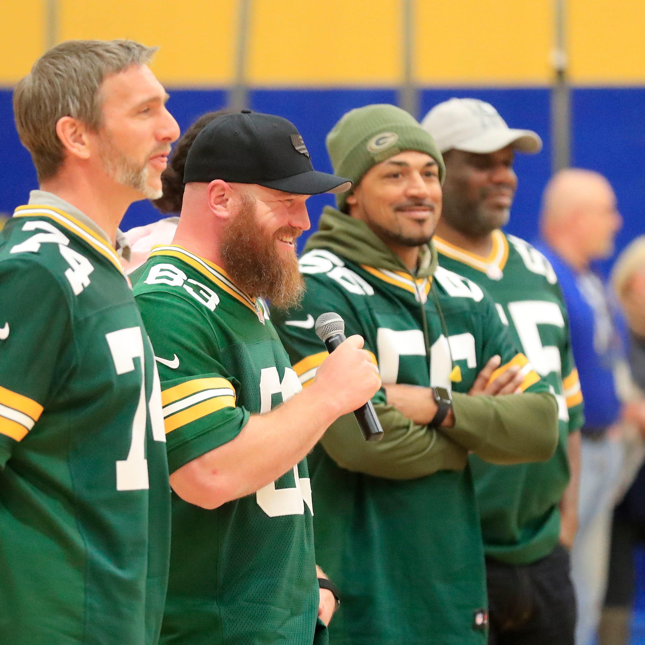 Packers alumni have uplifting and pointed messages as Tailgate Tour begins