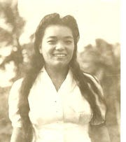 Lucia McDonald before the Japanese occupation began on Guam.