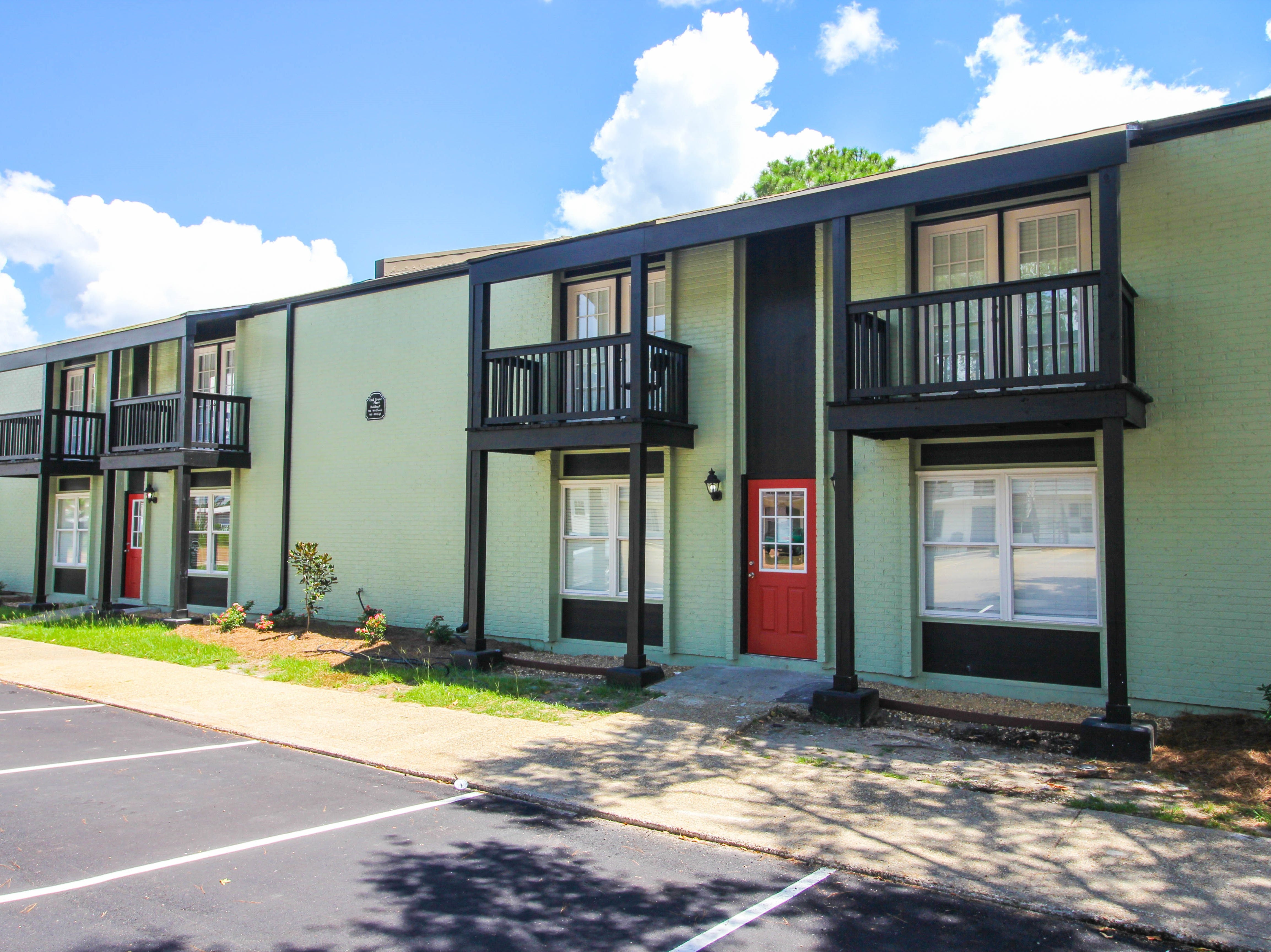 The newly renovated Oak Grove Place Apartment Homes at 2000 Oak Grove Road. Demolishing began in late 2017 and the first building was completed in July 2018.