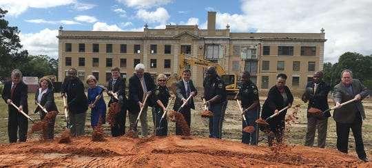 A groundbreaking ceremony was held Tuesday, April 9, 2019, at the site of the Hattiesburg Public Safety Complex, which is expected to be completed by fall 2021.