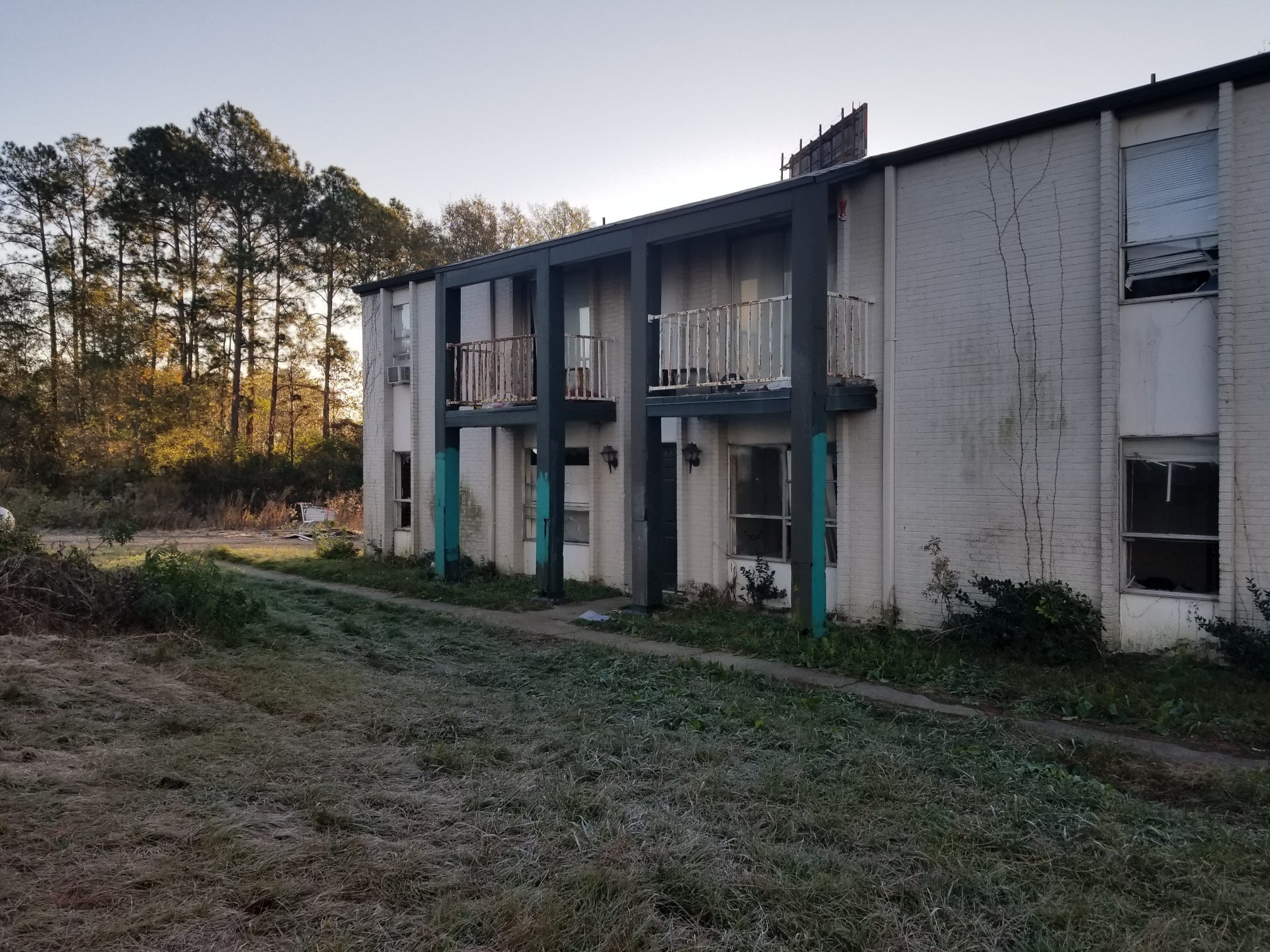 The former Oak Grove Place Apartment Homes, known as Greentree Apartments, a site of blight and disrepair in 2017.