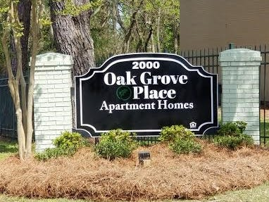 The newly renovated Oak Grove Place Apartment Homes at 2000 Oak Grove Road. The first building was completed in July 2018.