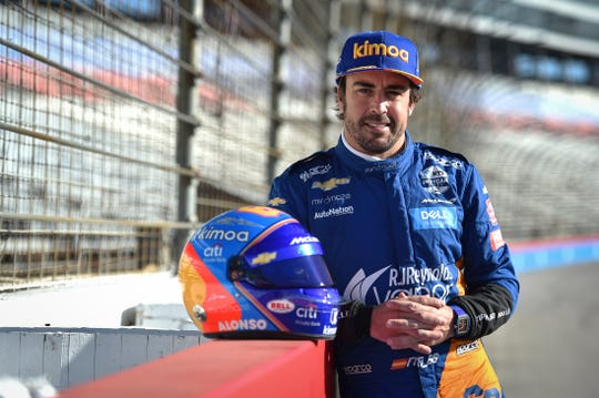 McLaren Indy driver Fernando Alonso took to Texas Motor Speedway on Tuesday for an oval test ahead of this year's 103rd running of the Indianapolis 500