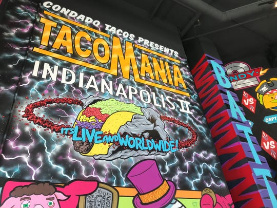 Graffiti-style art throws respect to Indianapolis and the Mass Ave. neighborhood at Condado, a Mexican restaurant specializing in tacos. It opens April 11, 2019, at 530 Massachusetts Ave. in downtown Indianapolis.