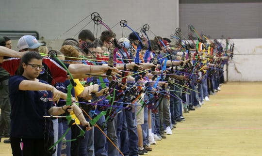 About 6,600 archers competed in the Archery in Mississippi Schools State Championship and two schools swept three divisions.