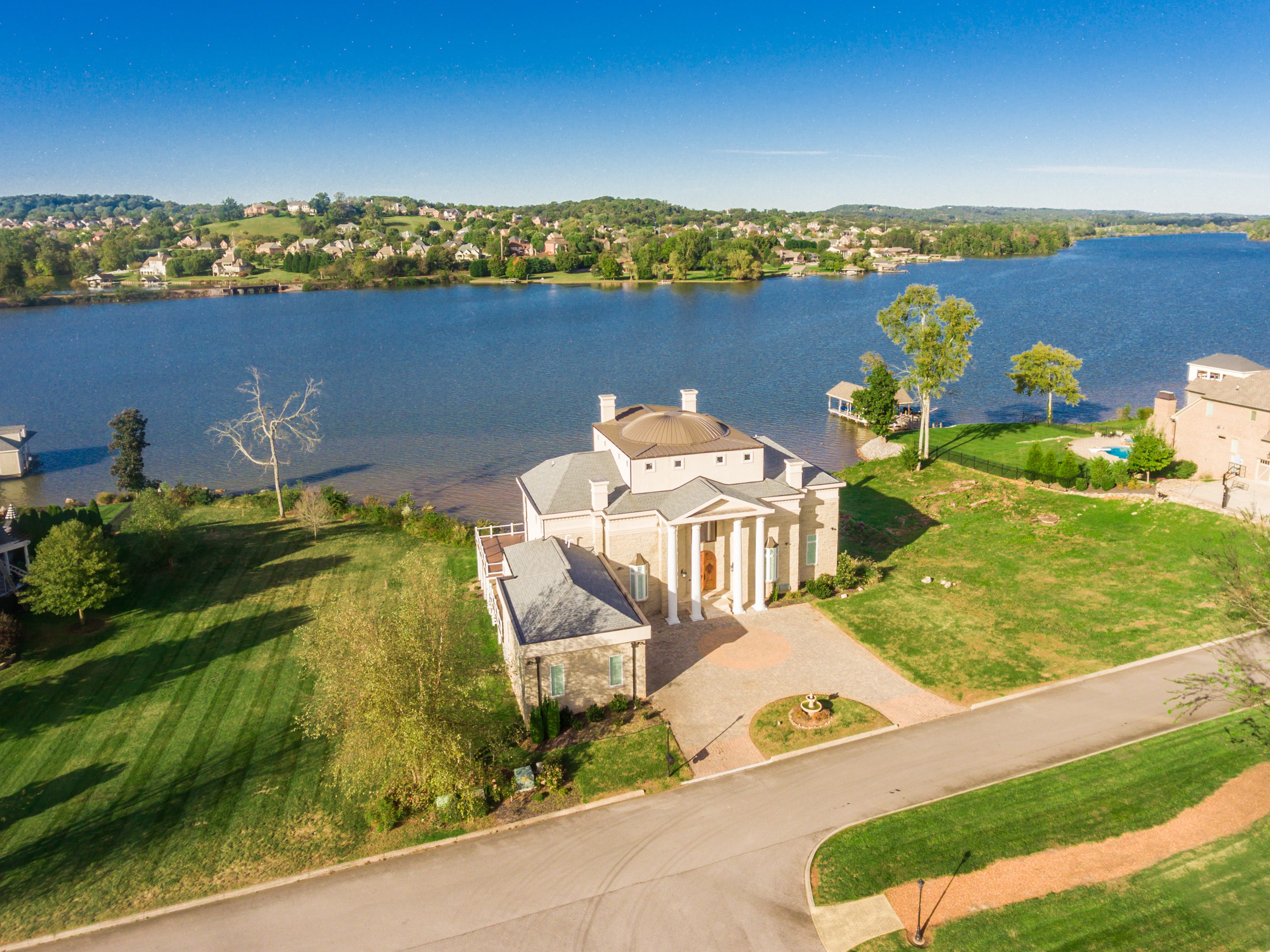 An aerial view of the mansion at 1439 Charlottesville Blvd in Farragut. It is listed for $1,995,000.