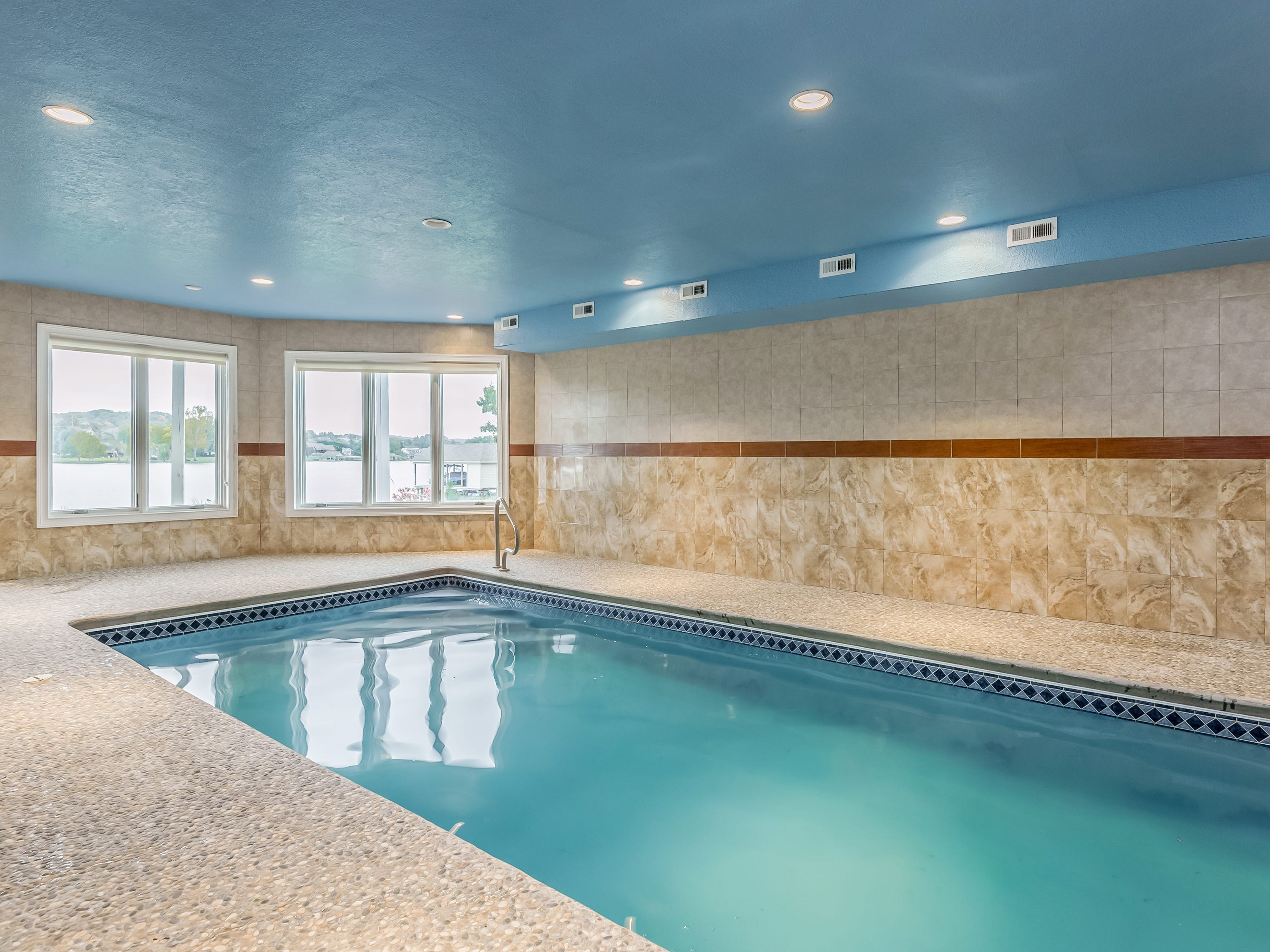 The mansion includes a heated indoor pool. 1439 Charlottesville Blvd in Farragut is listed for $1,995,000.