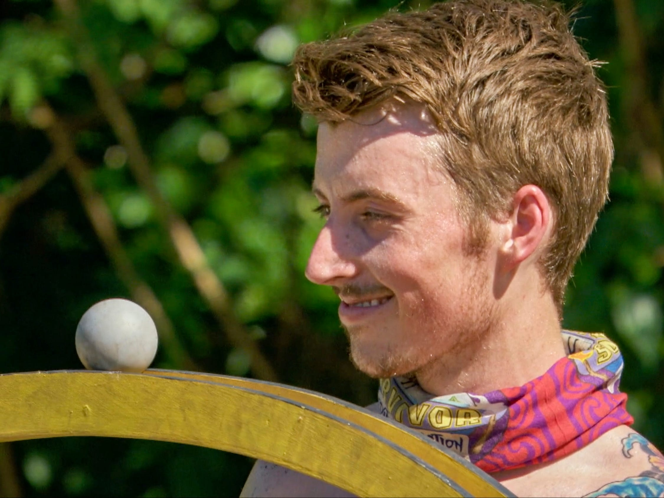 "Gavin Whitson competes on ""Survivor: Edge of Extinction."""