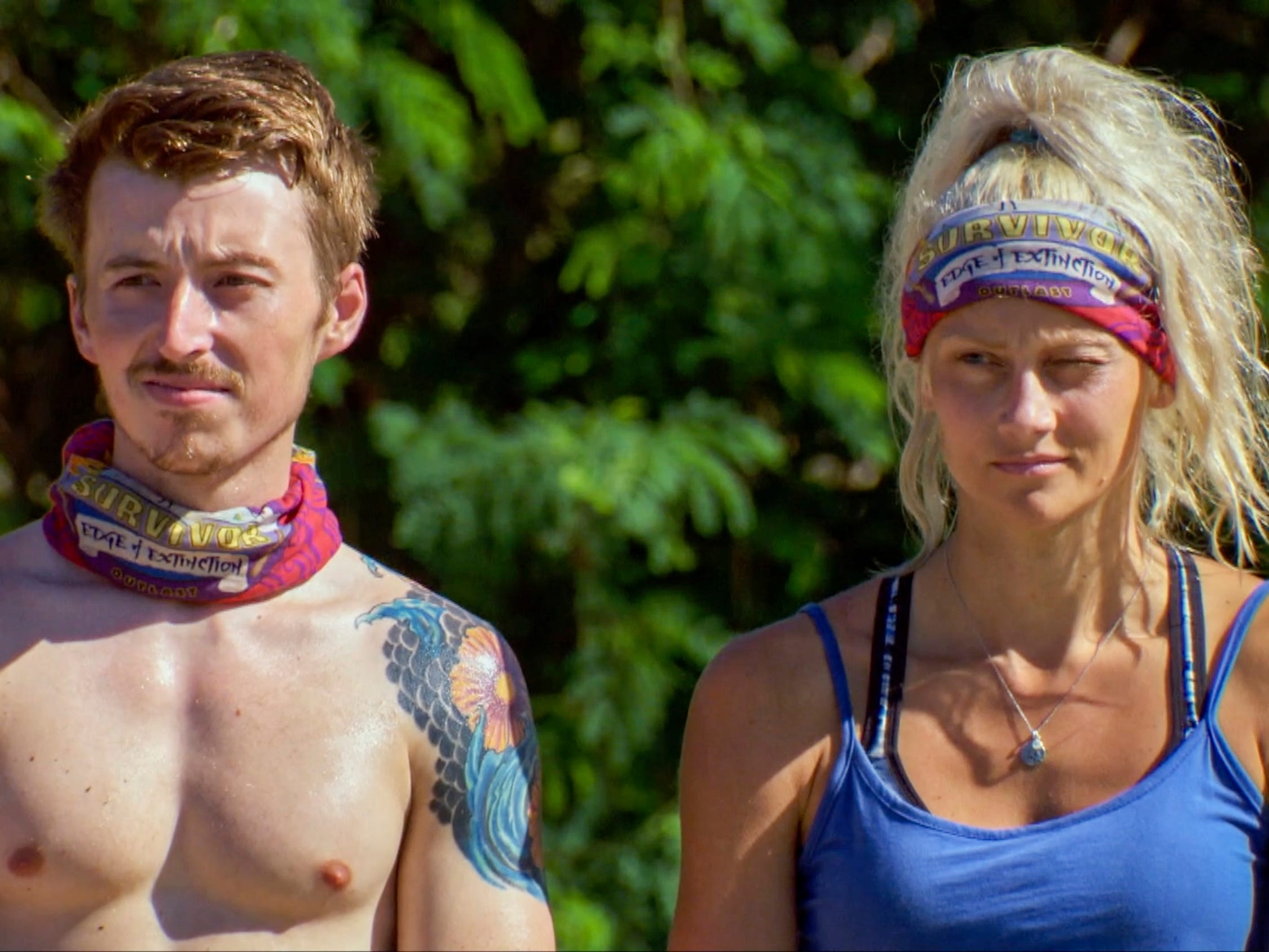 "Gavin Whitson and Kelly Wentworth on ""Survivor: Edge of Extinction."""