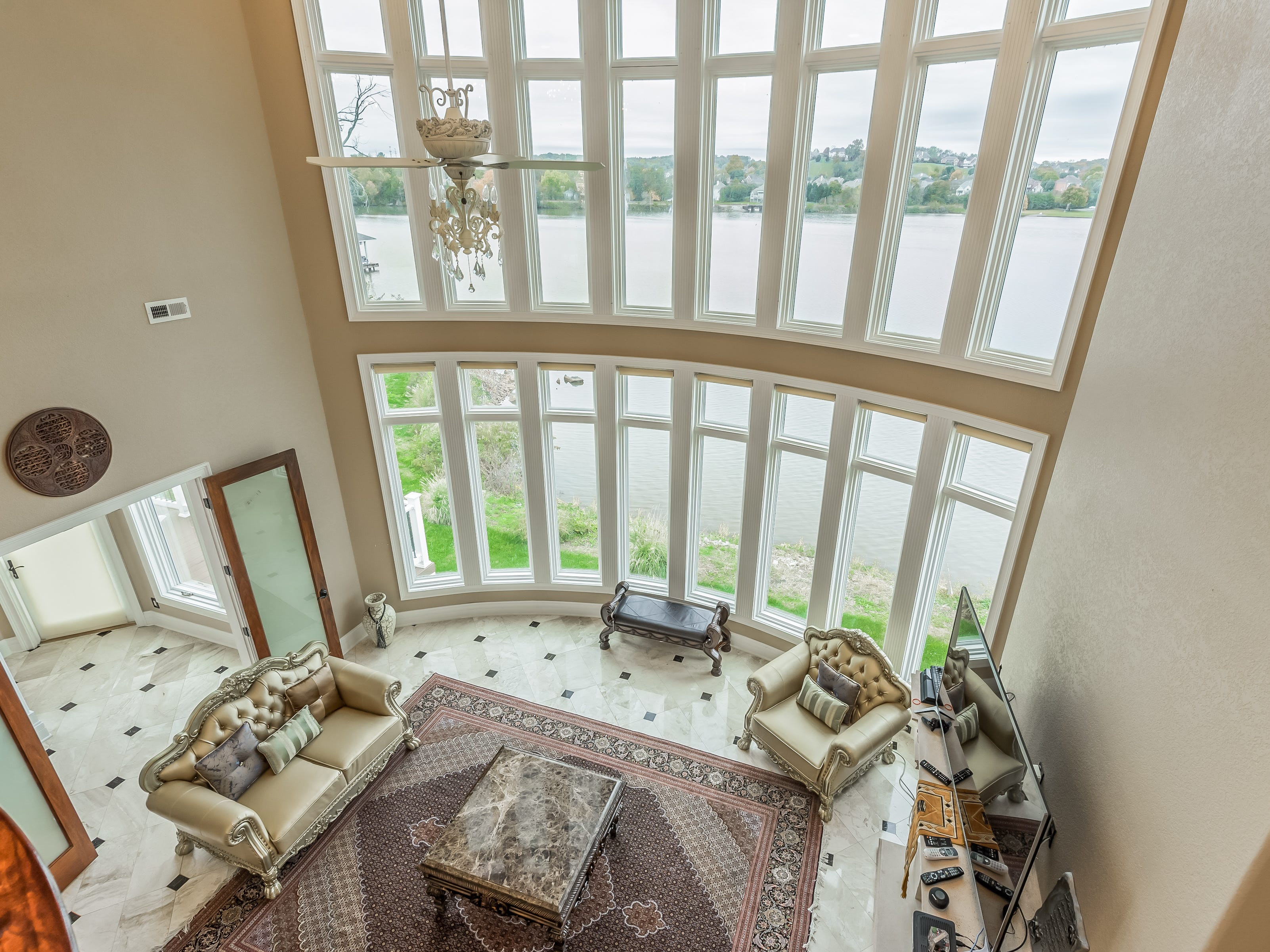 The view out on Fort Loudoun Lake from 1439 Charlottesville Blvd in Farragut. The mansion is listed for $1,995,000.
